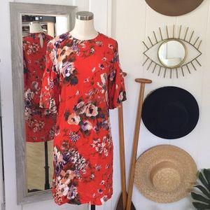 Beautiful Floral Midi Dress